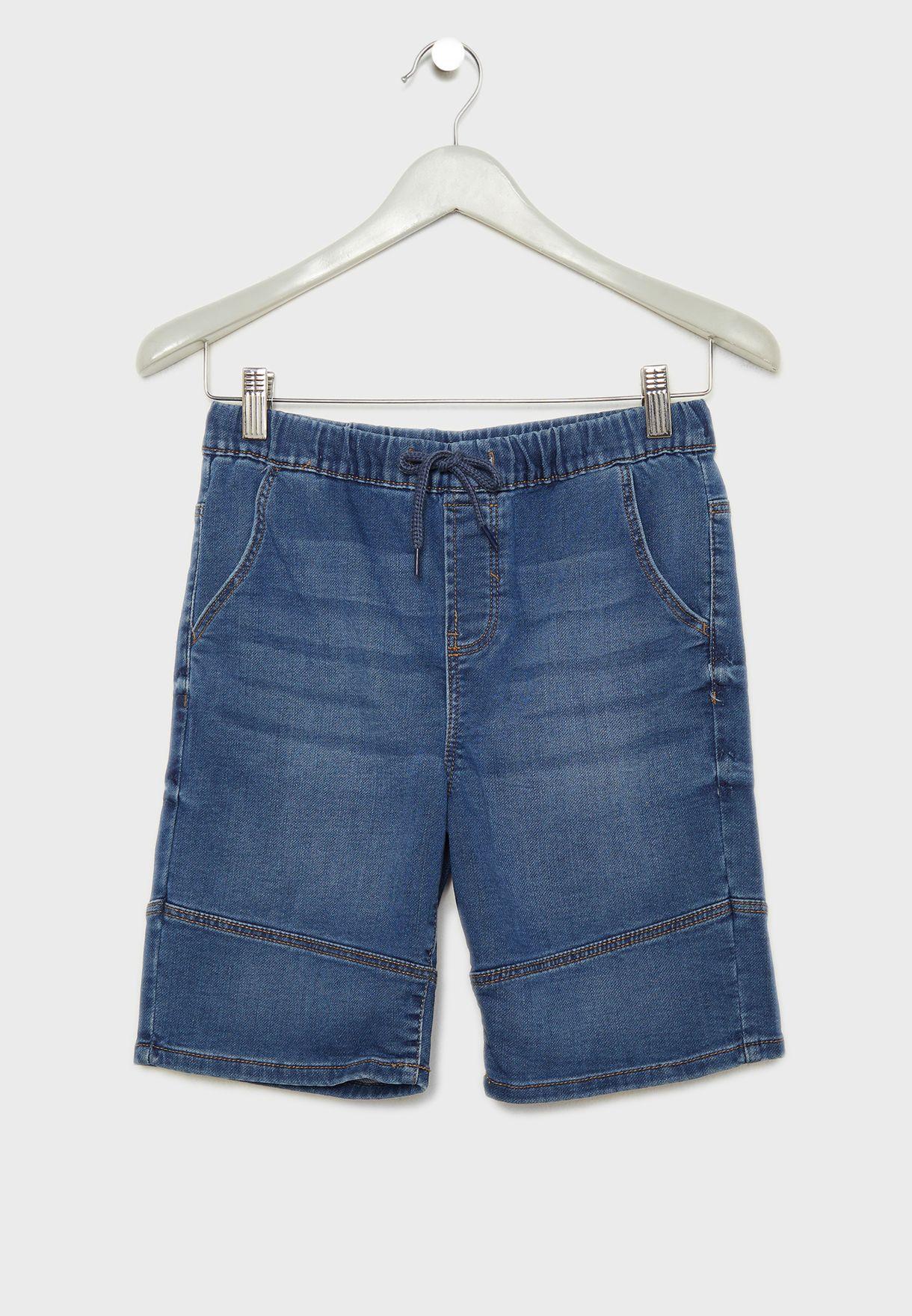 Kids Denim Bermuda Shorts