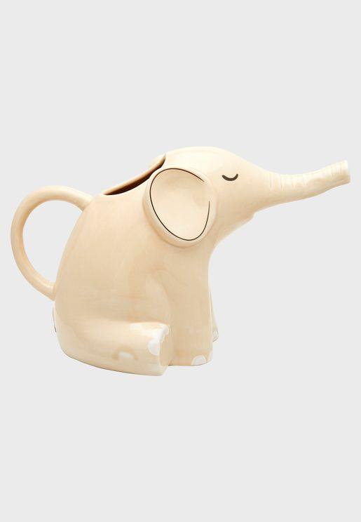 Elephant Watering Can Planter