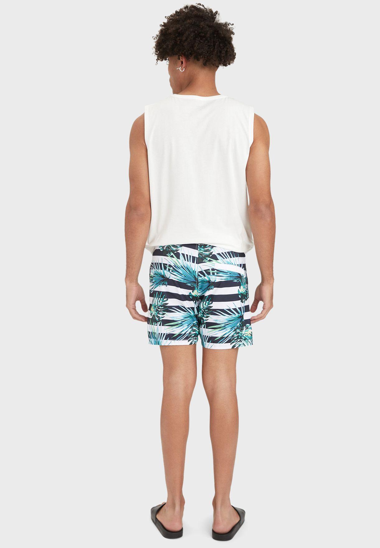 Striped Swim Shorts