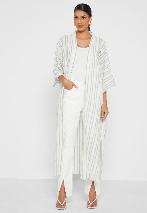 Wide Sleeves Longline Cardigan