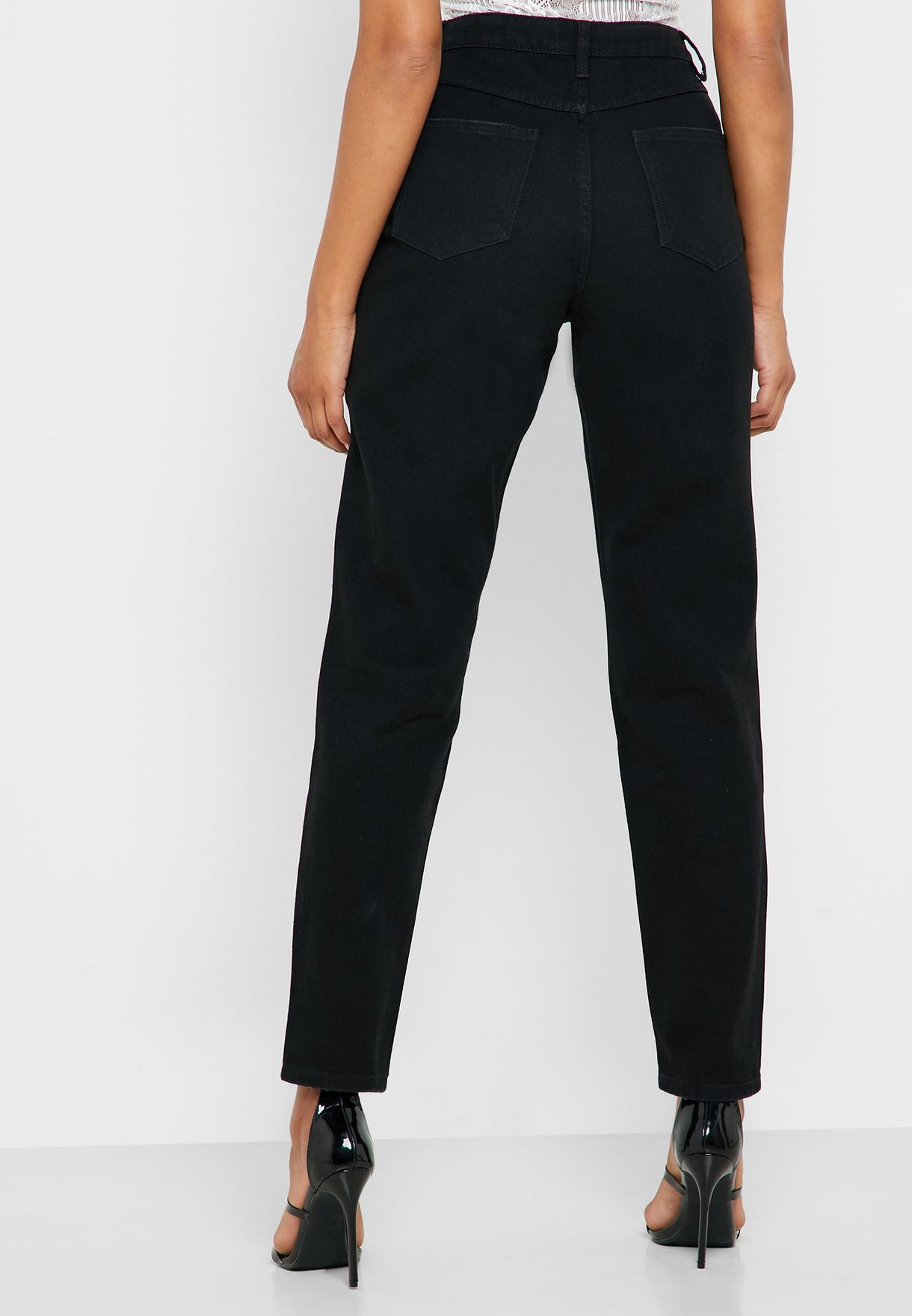 Riot High Waist Ripped Skinny Jeans
