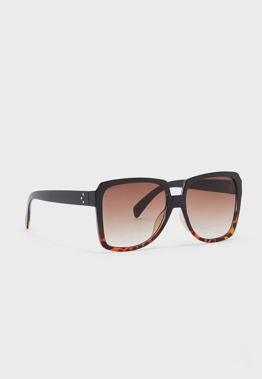 Oversized Ombre Frame Sunglasses