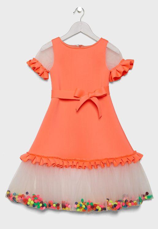 Teen Hem Ruffle Dress