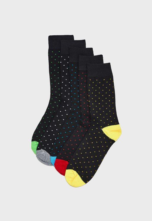5 Pack Crew Socks