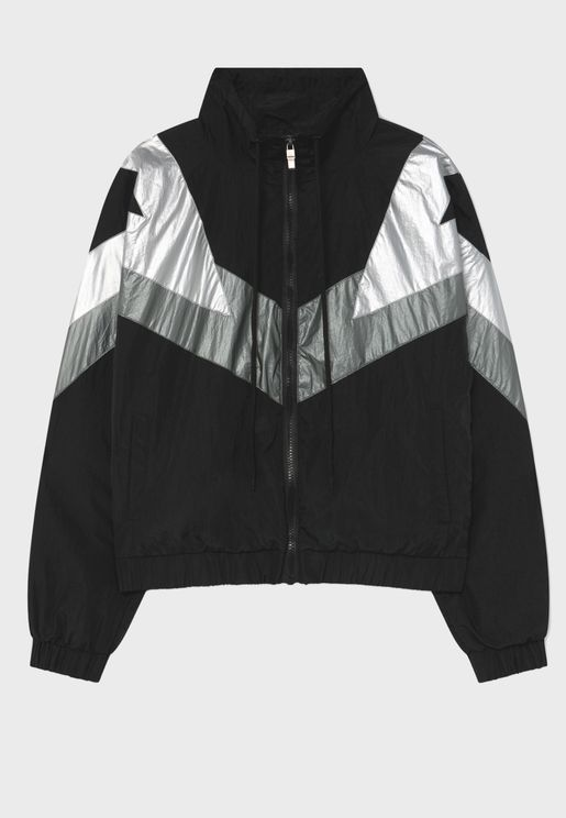 Chevron Color block Jacket