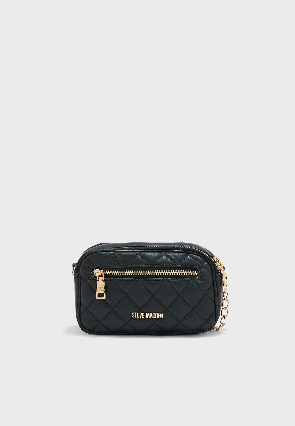 Bmood Quilted Chain Detail Crossbody