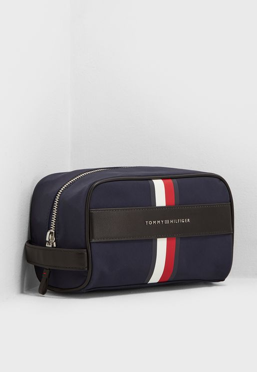 Elevated Striped Washbag