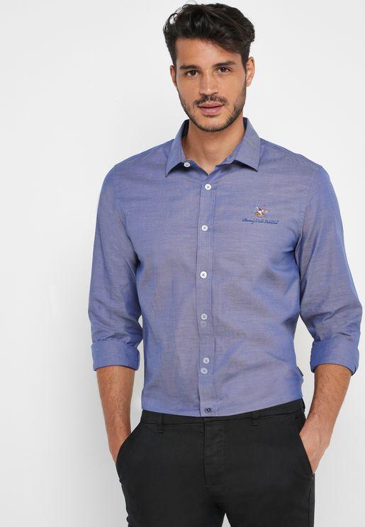 Button Down Logo Shirt