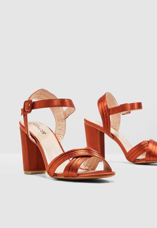 Satin Quilted Sandal