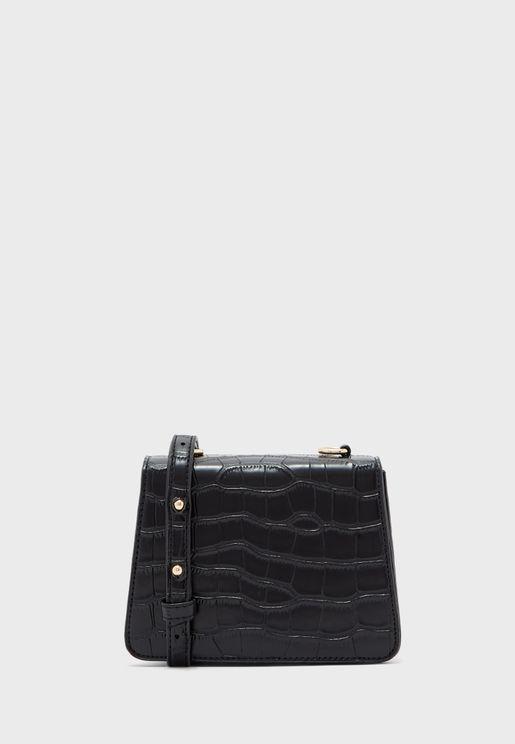 Croc Chain Strap Bag