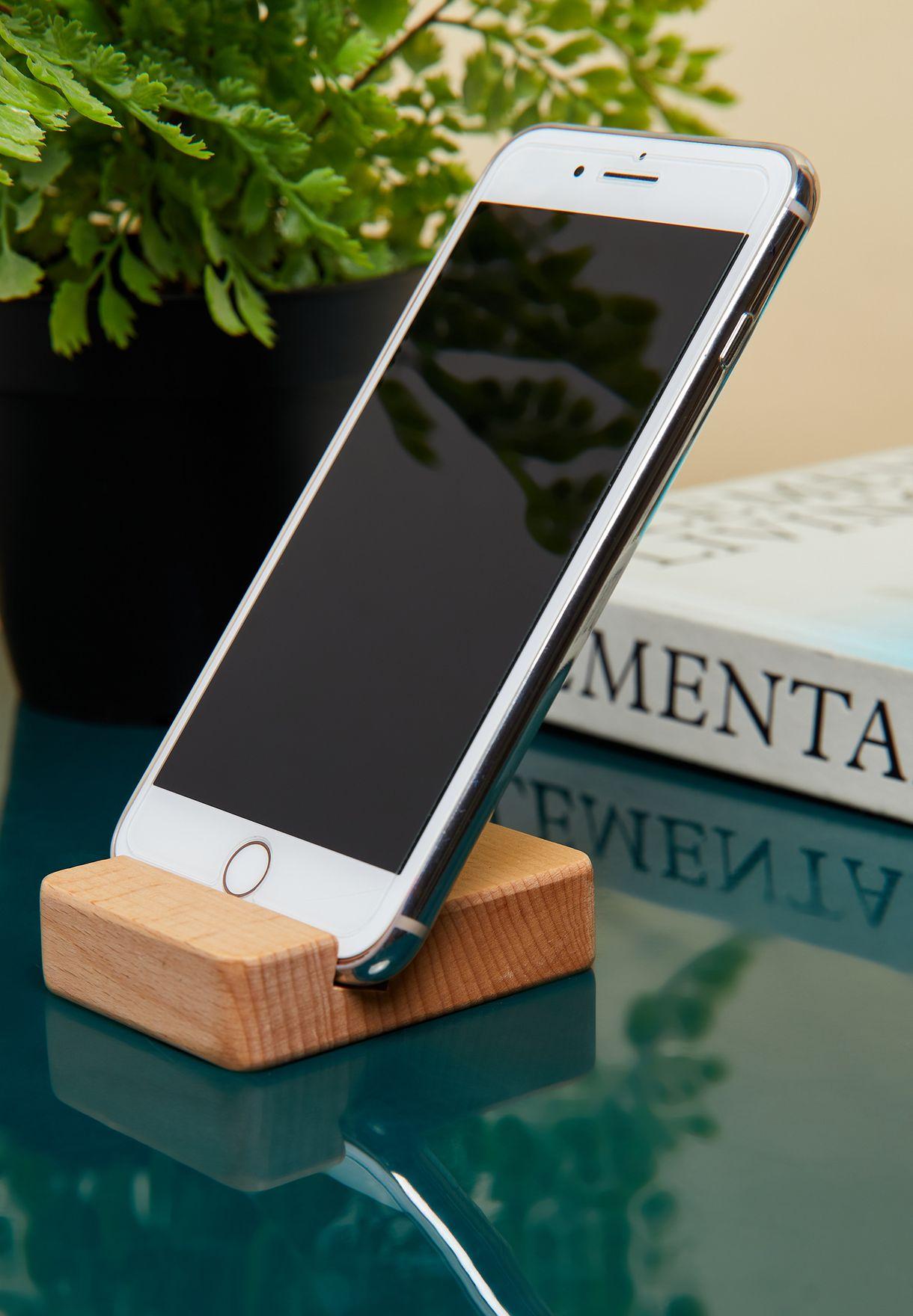 حامل هاتف خشبي