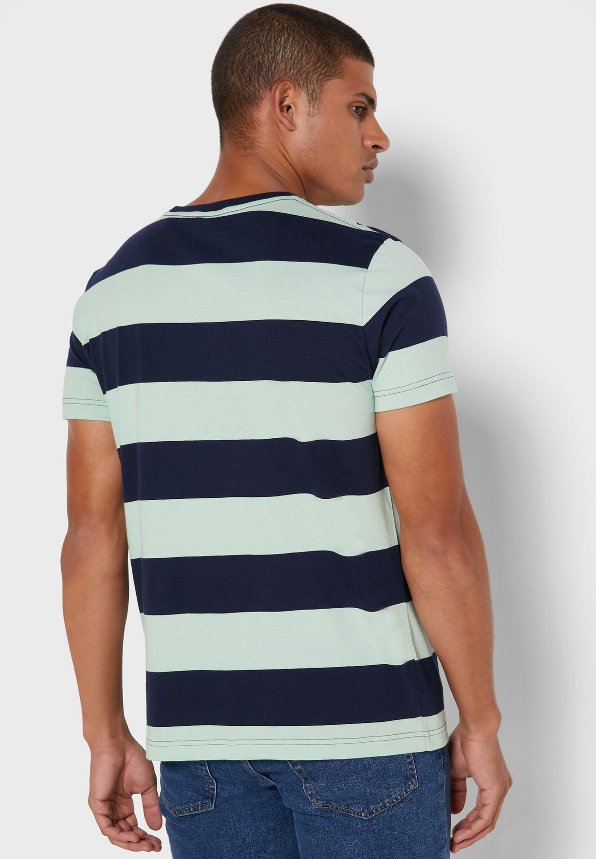 Bold Stripe Crew Neck T-Shirt