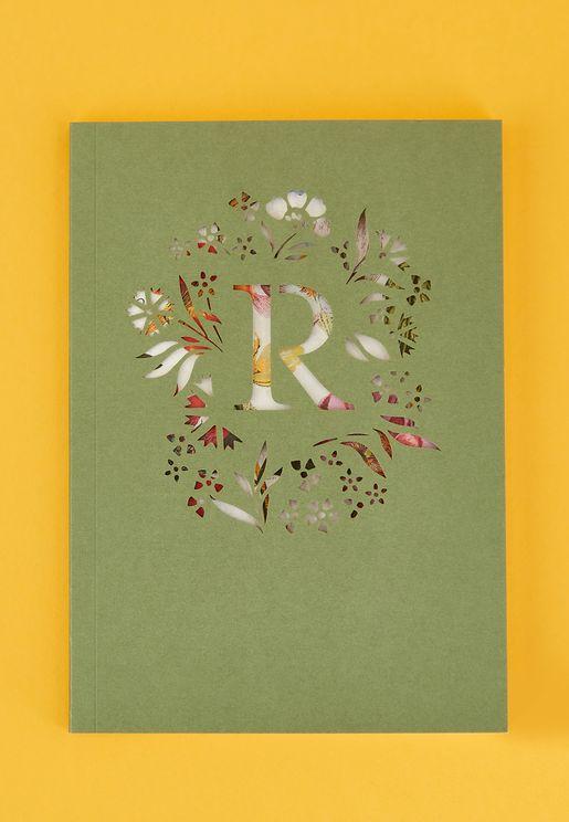 R-Initial Gardenia Monogram Journal