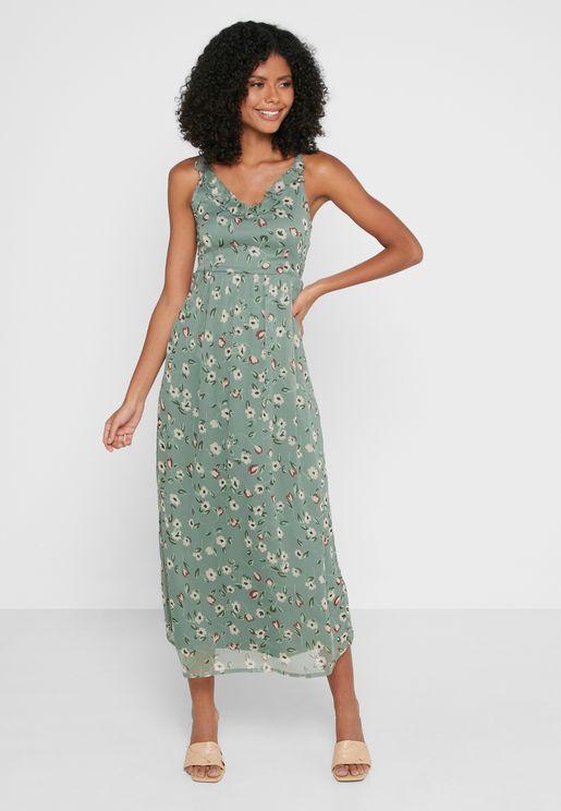 Cami Strap Printed Dress