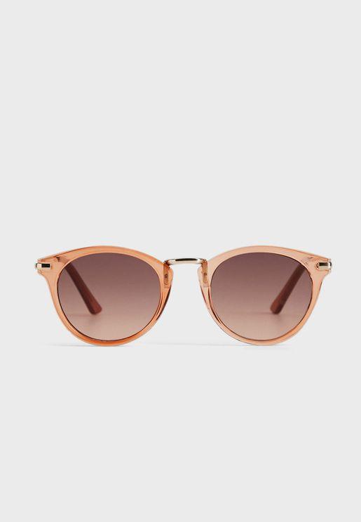 Aqua Cat Eye Sunglasses