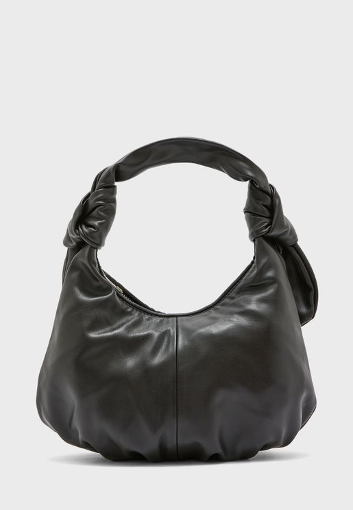 Tie Handle Slouch Shoulder Bag