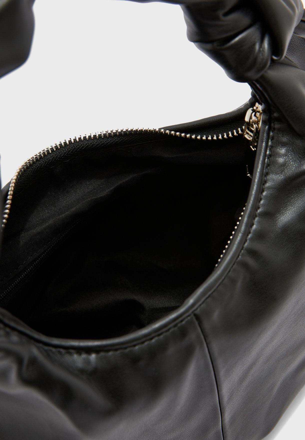 Tie Handle Slouch Shoulder Bag