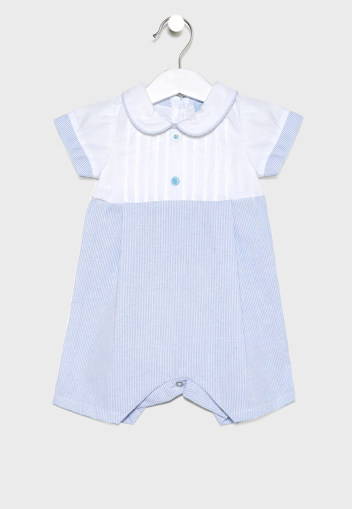 Infant Peter Pan Collar Dress + Shorts Set