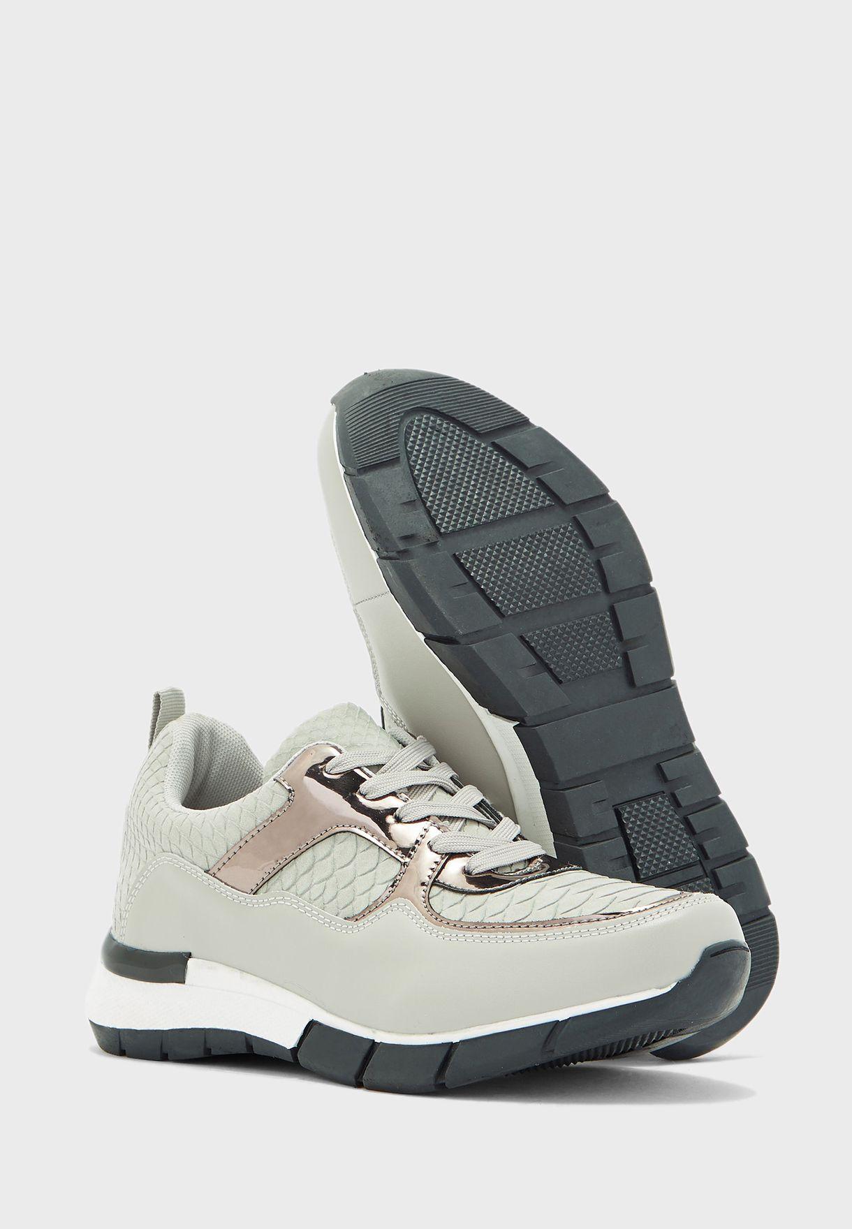 Metallic Detail Sneakers