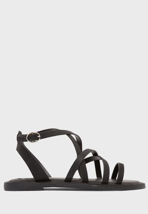 Viki Ankle Strap Flat Sandal