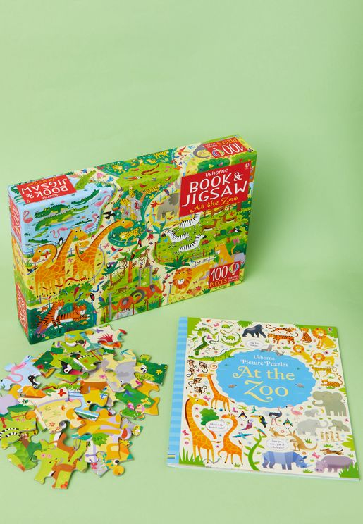 At the Zoo Jigsaw And Book