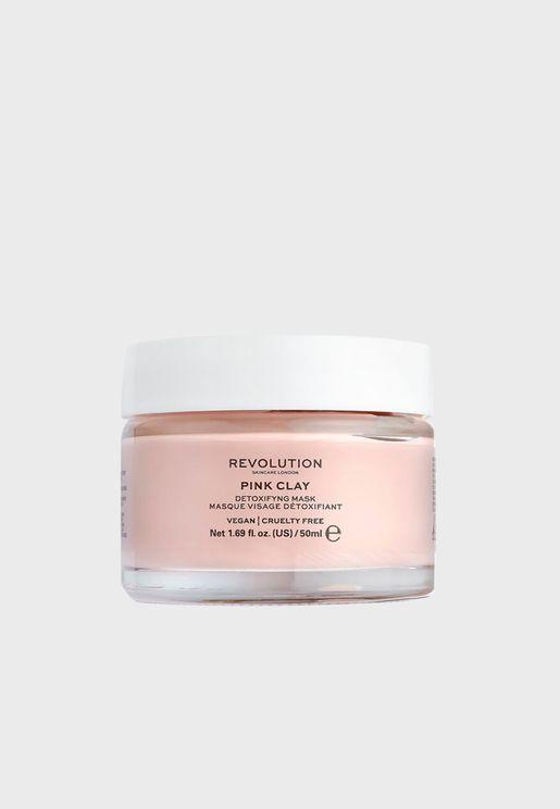 ماسك الطين الوردي لازالة سموم بشرة الوجه