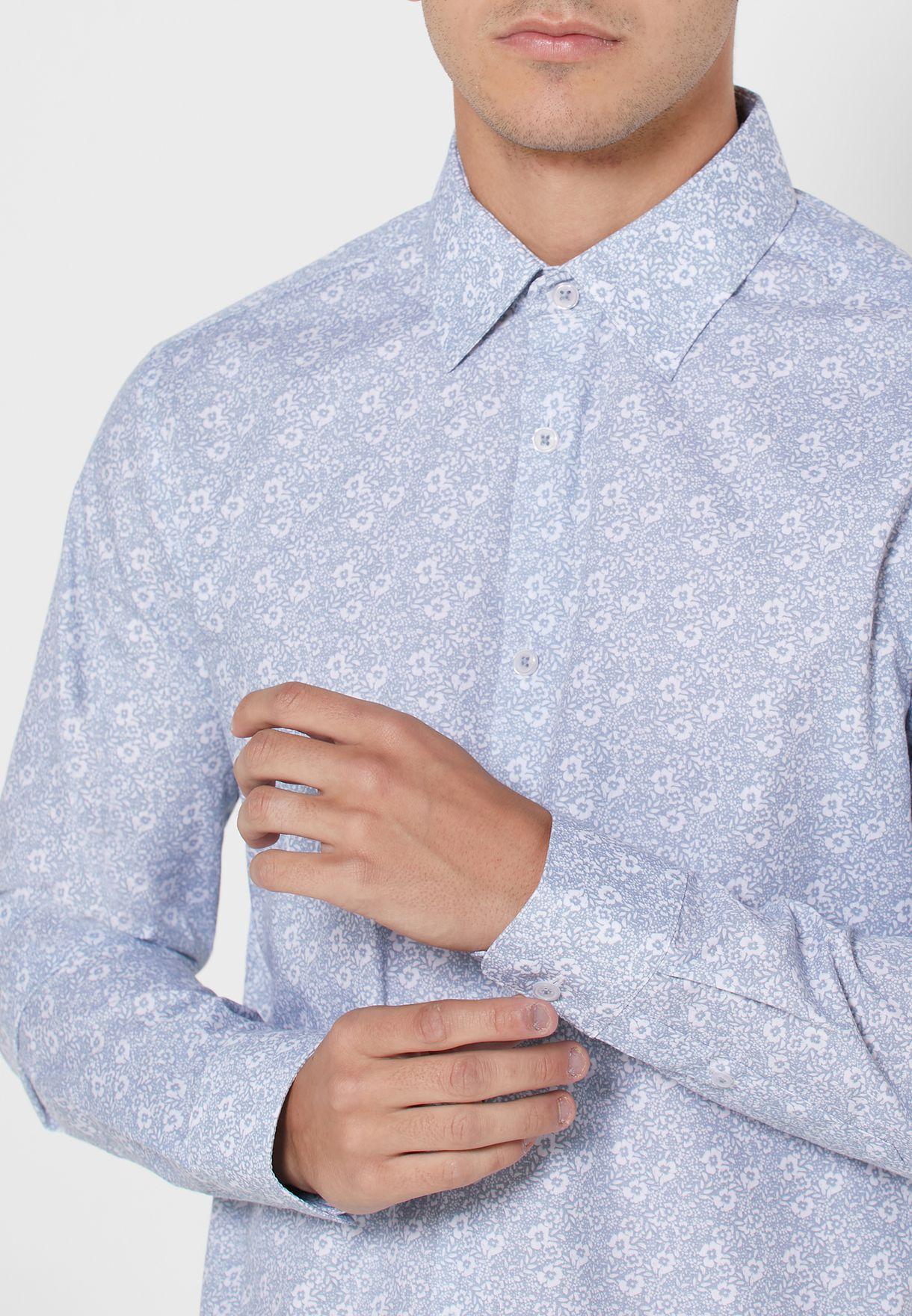 Floral Print Slim Fit Shirt