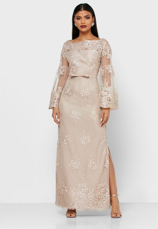 Bardot Wide Sleeve Dress