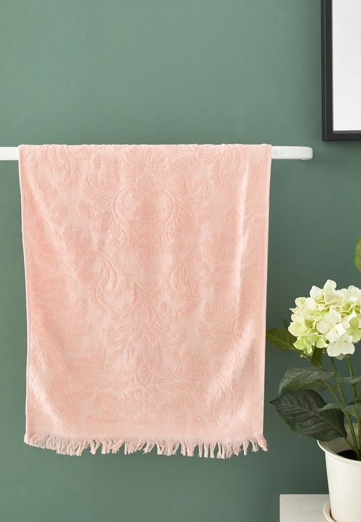 Pink Patterned Hand Towel