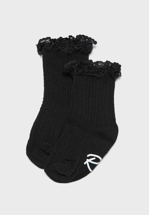 Infant 2 Pack Lace Core Socks