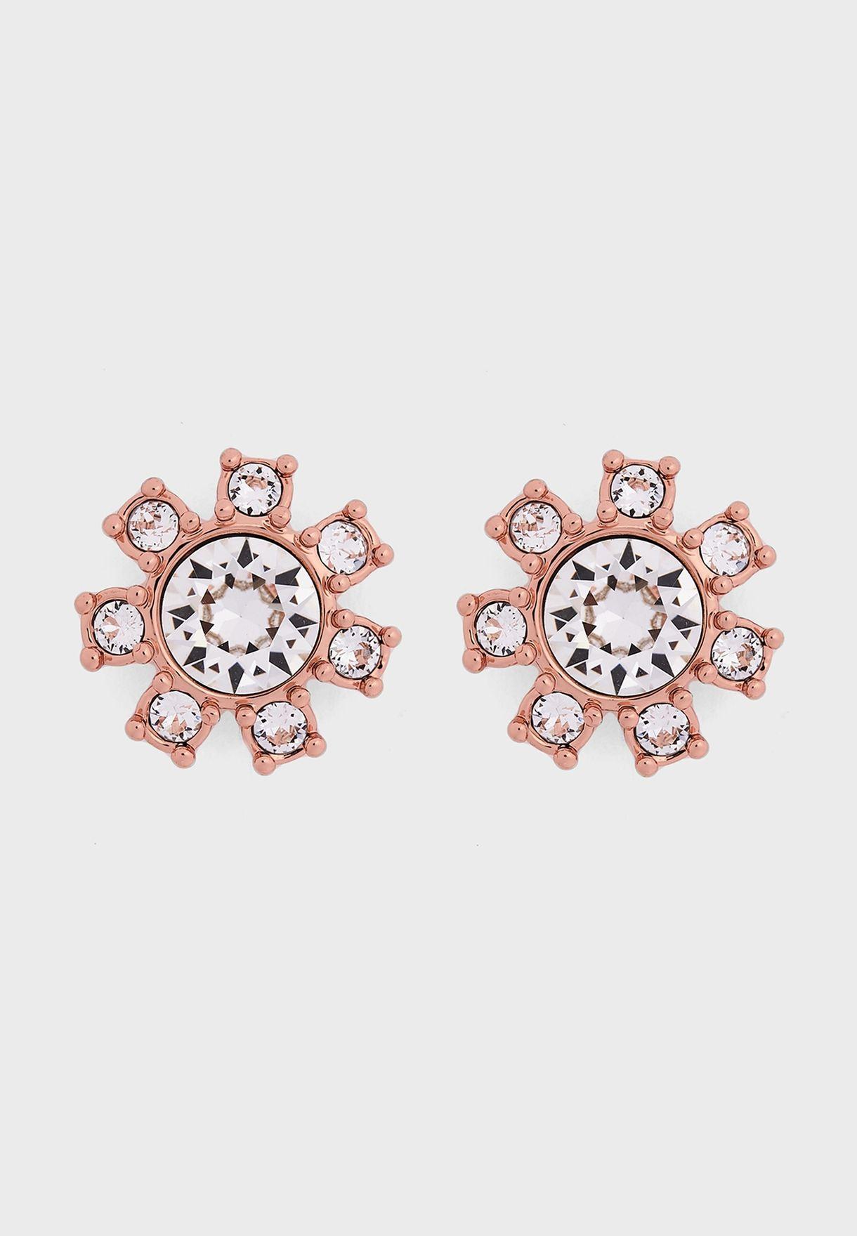 Cesha Daisy Clockwork Stud Earrings