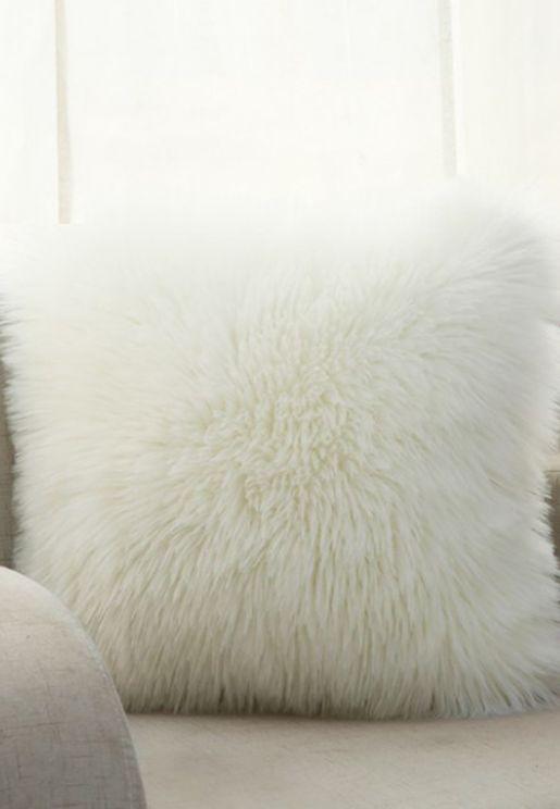 Faux Fur Cushion With Insert 45Cm X 45Cm