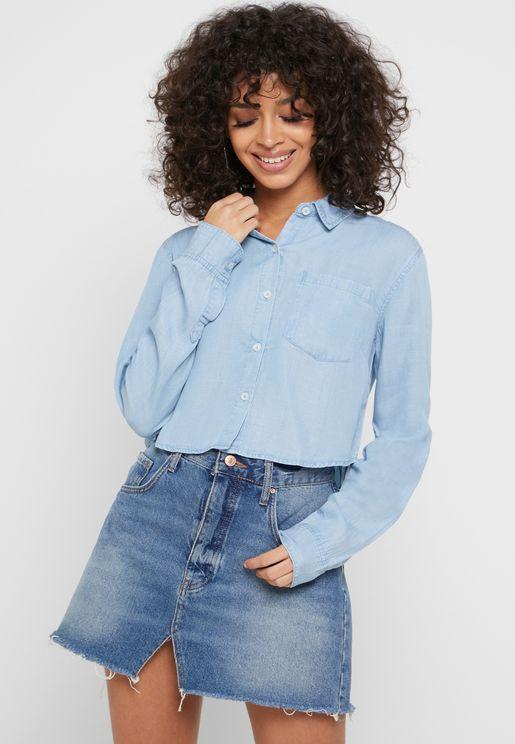 قميص جينز قصير
