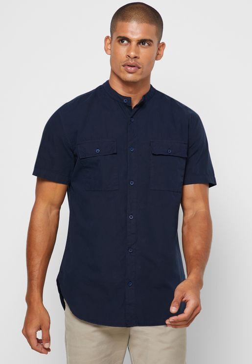Longline Patch Pocket Shirt