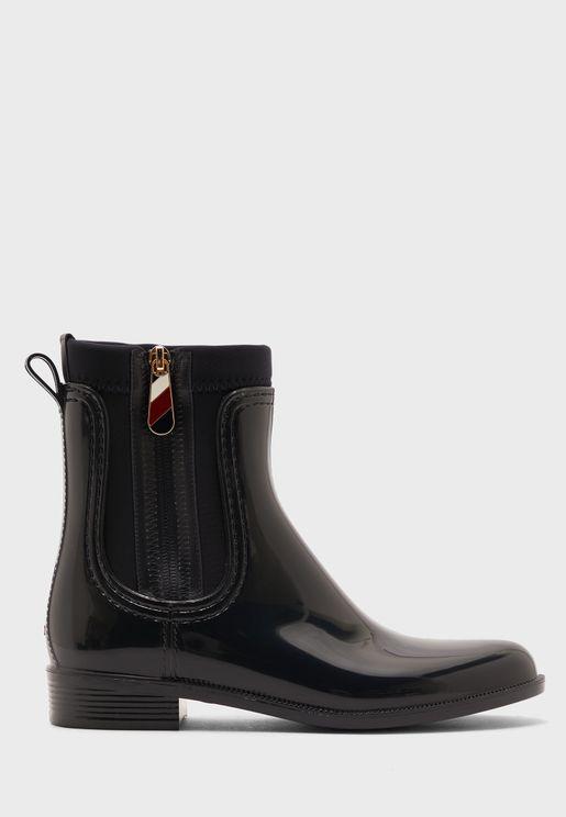 Zip Detail Boots