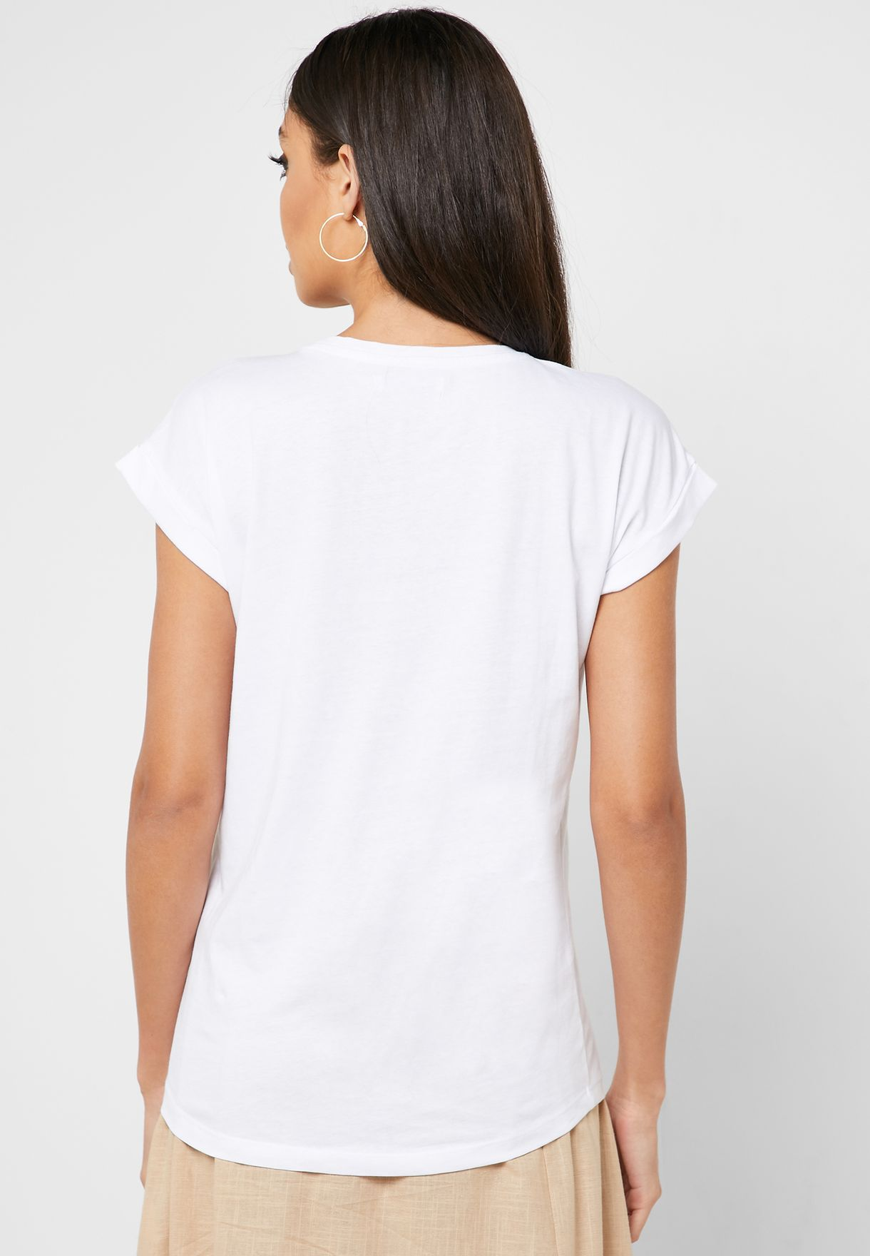 Cap Sleeve Graphic T-Shirt