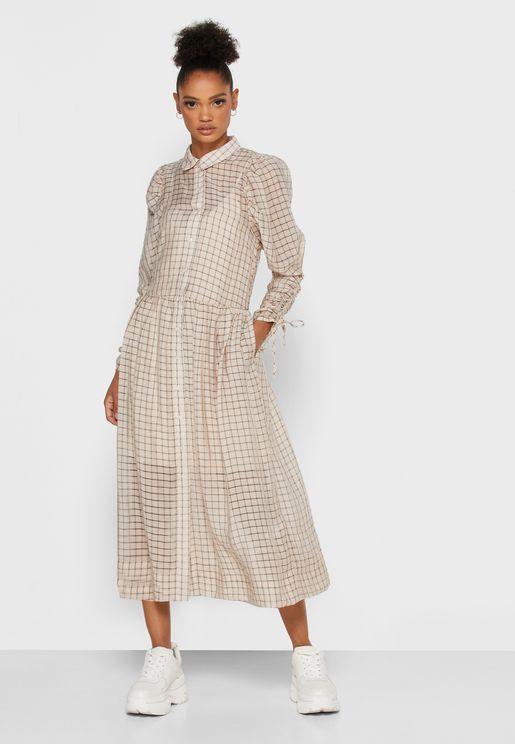 فستان مطبع بازرار امامية