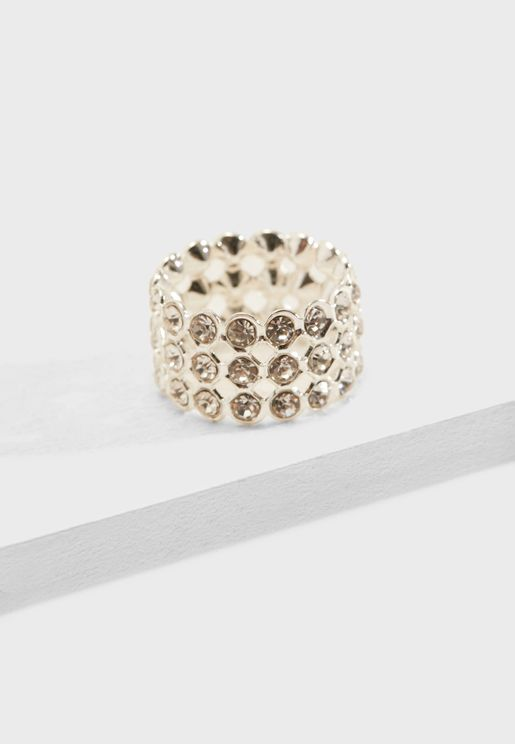 Rhinestone Encrusted Ring