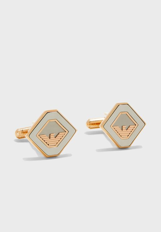 Logo Detail Cuff Links