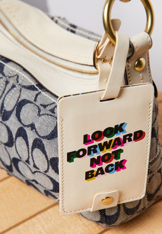 Look Forward Not Back Luggage Tag