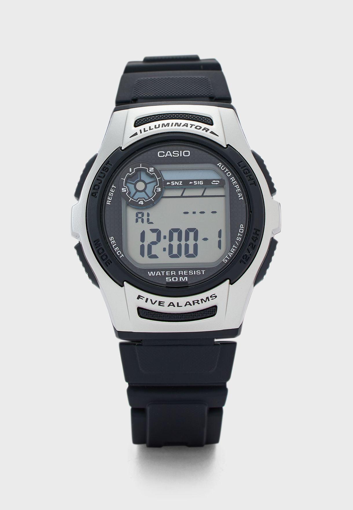 Silicone Strap Digital Watch