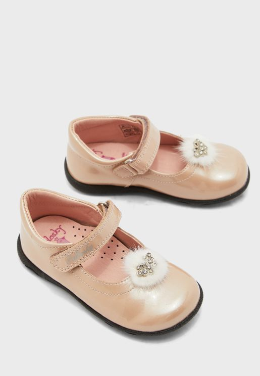 Kids Fur Detail Ballerina