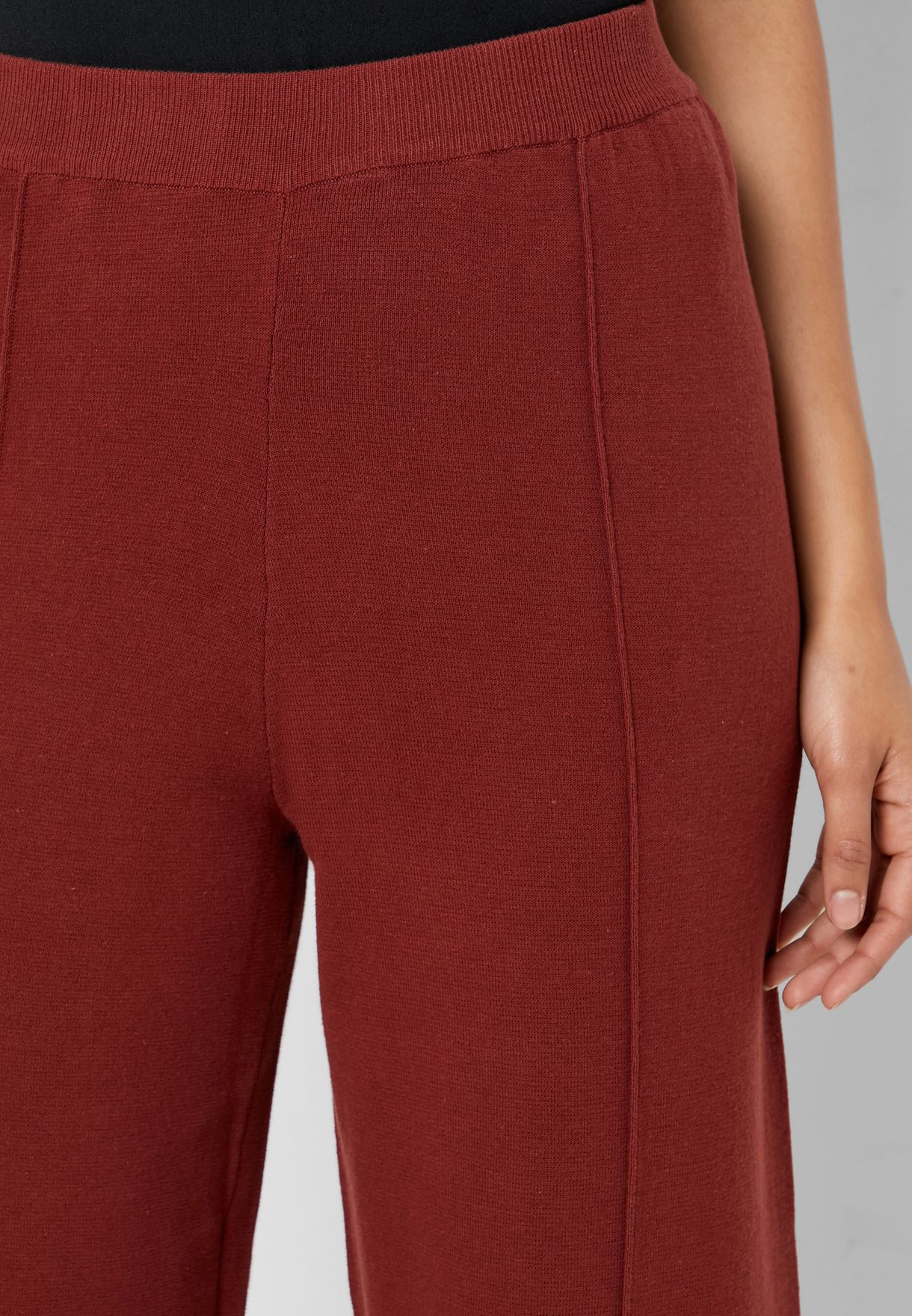 Seam Detail Wide Leg Pants