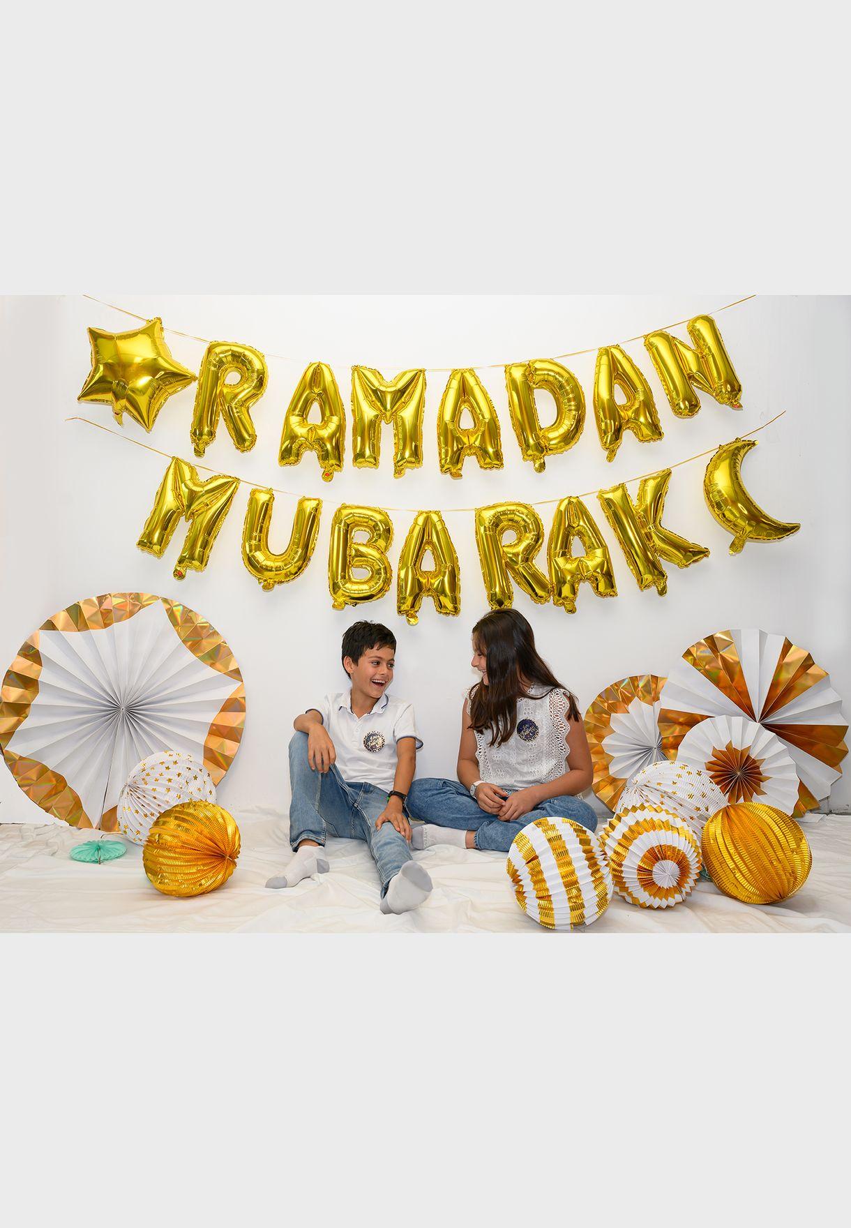 بالونات احرف Ramadan Mubarak للزينة
