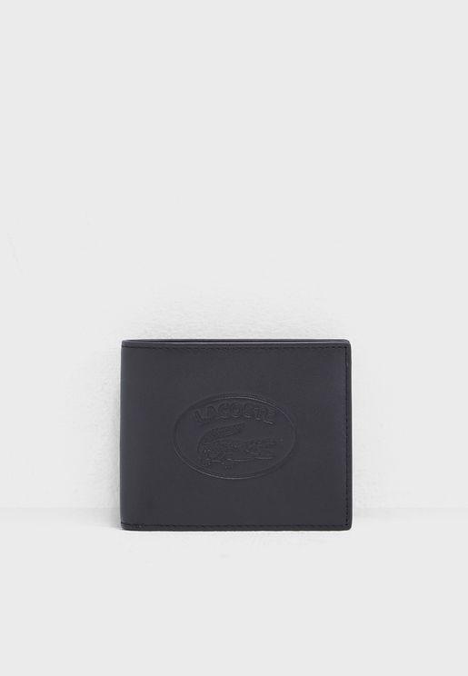 محفظة مطوية من جلد اصلي