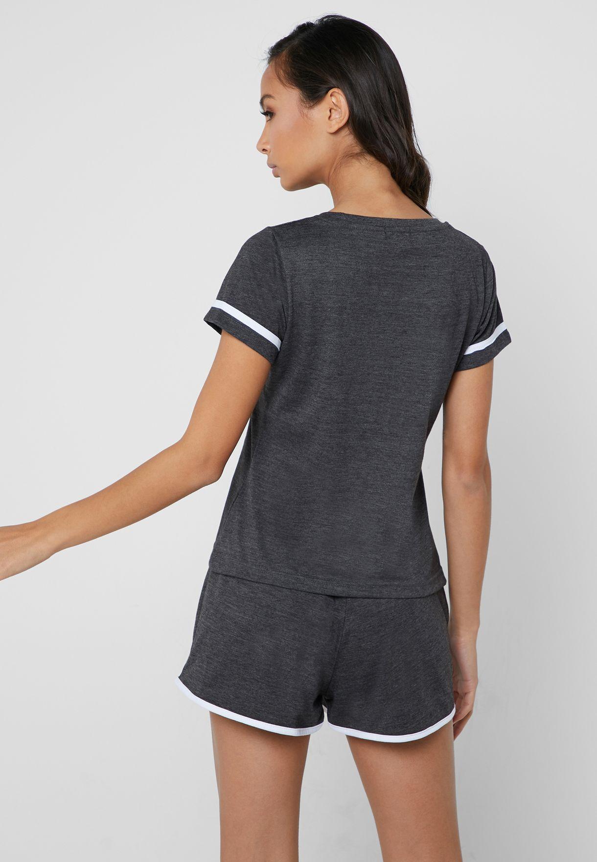 Varsity Pyjama Shorts Set