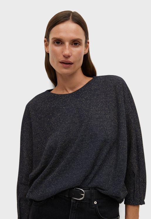 Textured Oversized T-Shirt