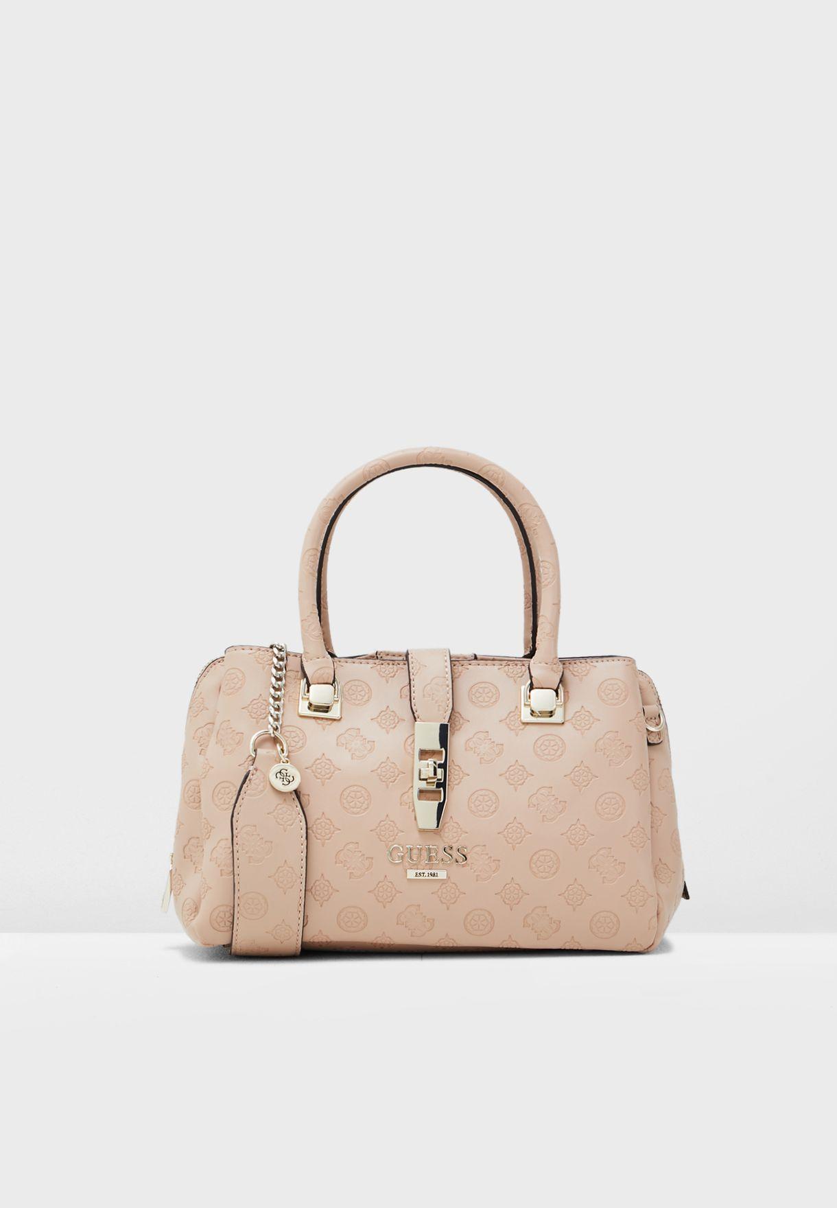 0e78463e8a Shop Guess pink Peony Classic Satchel SG739806 for Women in Saudi ...