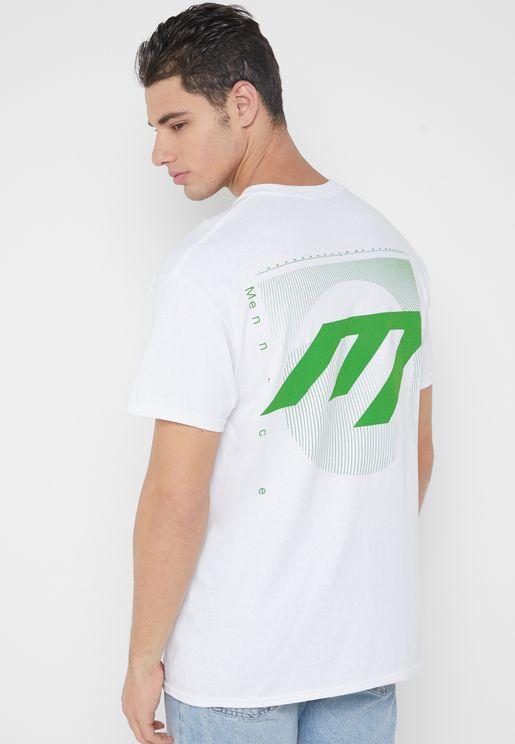 M Logo Back Crew Neck T-Shirt