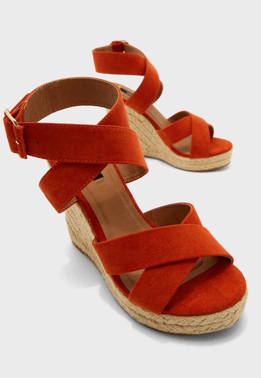 Amelia High Heel  Wedge Sandal